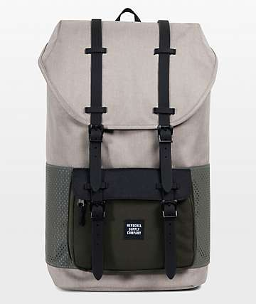 Herschel Supply Co. Little America Aspect Light Khaki Forest Night 25L mochila en color caqui y verde