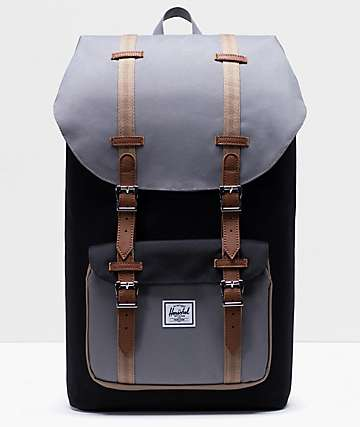 Herschel Supply Co. Little America Black, Grey & Tan Backpack