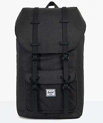 Herschel Supply Co. Little America Black Crosshatch Backpack