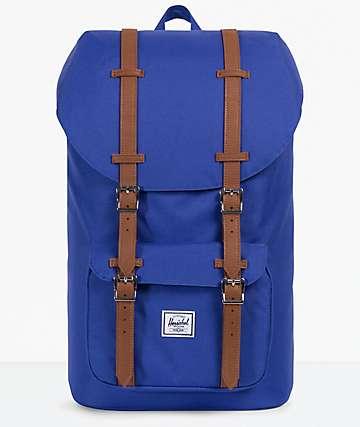 Herschel Supply Co. Little America Deep Ultra Marine & Tan Backpack