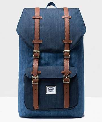 Herschel Supply Co. Little America Faded Denim Backpack