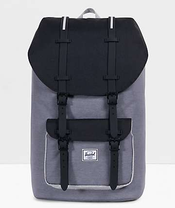 Herschel Supply Co. Little America Grey & Black Crosshatch Backpack