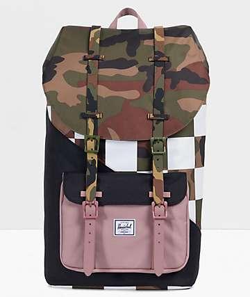 Herschel Supply Co. Little America Kaleidoscope Check & Camo Backpack