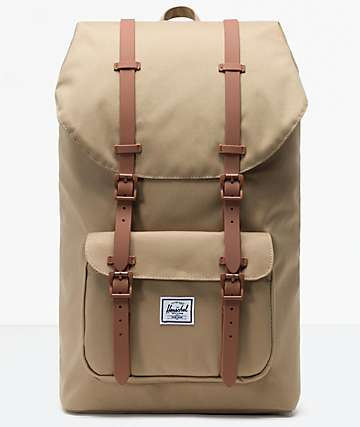 Herschel Supply Co. Little America Kelp & Saddle Brown Backpack