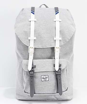 Herschel Supply Co. Little America Light Grey & White Backpack