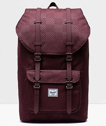 Herschel Supply Co. Little America Plum Dot Check Backpack