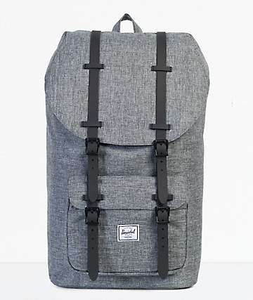 Herschel Supply Co. Little America Raven Crosshatch 25L mochila
