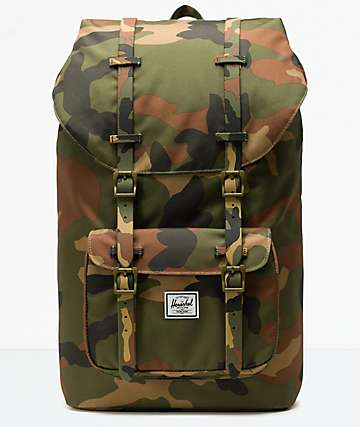 Herschel Supply Co. Little America Woodland Camo Backpack
