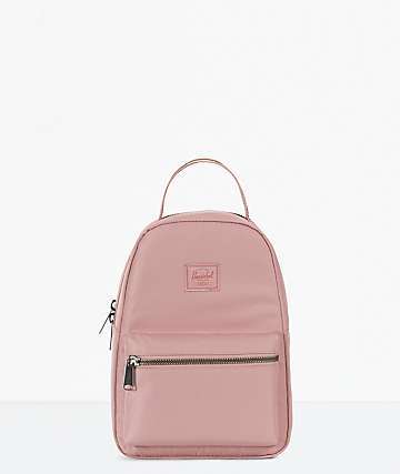 Herschel Supply Co. Nova Ash Rose Satin Mini Backpack