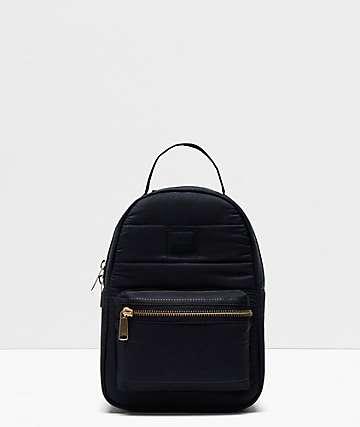 Herschel Supply Co. Nova Black Quilt Mini Backpack