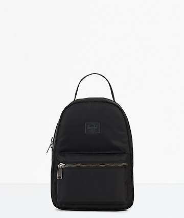Herschel Supply Co. Nova Black Satin Mini Backpack