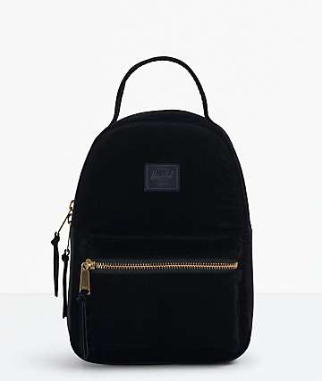 Herschel Supply Co. Nova Corduroy Black Mini Backpack