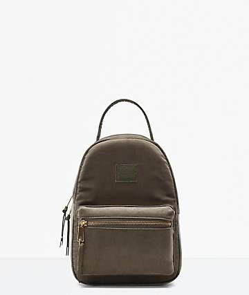 Herschel Supply Co. Nova Corduroy Ivy Green Mini Backpack