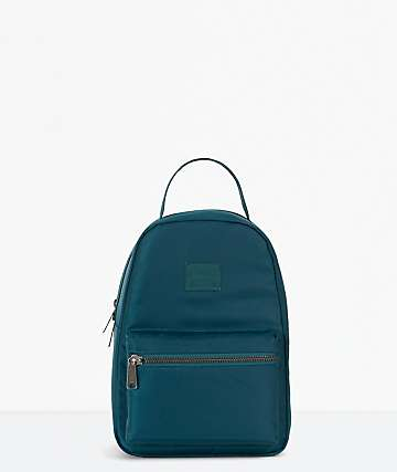 Herschel Supply Co. Nova Deep Teal Satin Mini Backpack