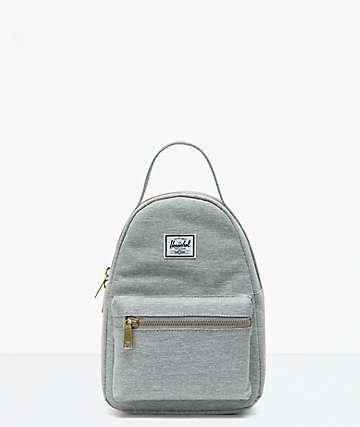 Herschel Supply Co. Nova Light Grey Crosshatch Mini Backpack