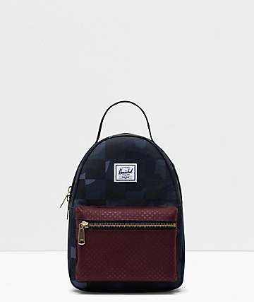 Herschel Supply Co. Nova Night Camo, Plum Dot & Checker Mini Backpack