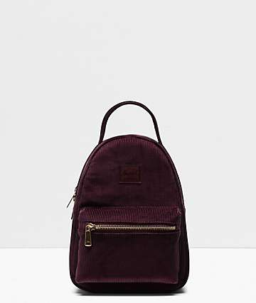 Herschel Supply Co. Nova Plum Corduroy Mini Backpack