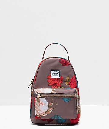 Herschel Supply Co. Nova Vintage Floral Pine Bark Mini Backpack