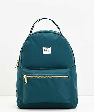 Herschel Supply Co. Nova mochila verde azulado