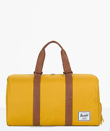 Herschel Supply Co. Novel Arrowwood & Tan Duffle Bag