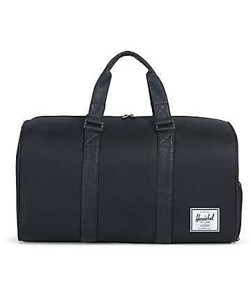 Herschel Supply Co. Novel Black & Black Synthetic Leather 42.5L Duffle Bag
