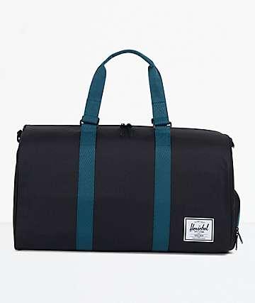 Herschel Supply Co. Novel Black & Deep Teal Duffel Bag
