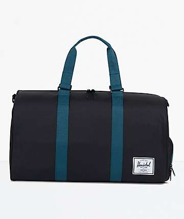 Herschel Supply Co. Novel Black & Deep Teal Duffle Bag