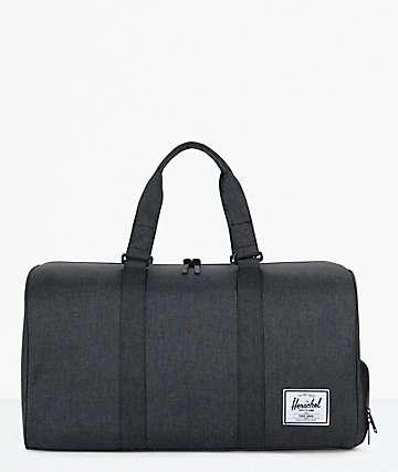 Herschel Supply Co. Novel Black Crosshatch Duffel Bag