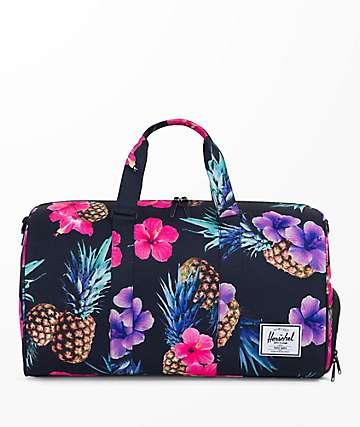 Herschel Supply Co. Novel Black Pineapple 42.5L Duffle Bag
