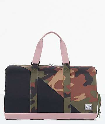 Herschel Supply Co. Novel Camo, Rose & Checker Duffle Bag