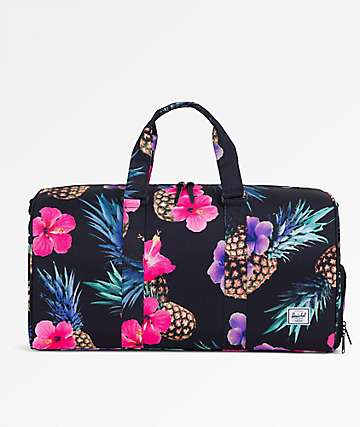Herschel Supply Co. Novel Mid Black Pineapple 33L Duffle Bag