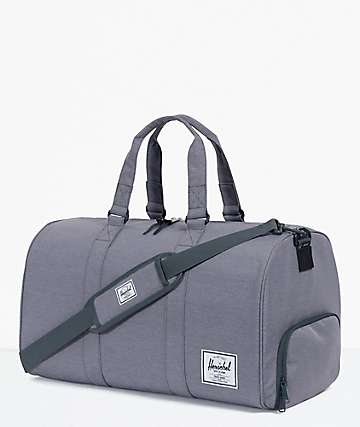 Herschel Supply Co. Novel Mid Grey Crosshatch Duffle Bag