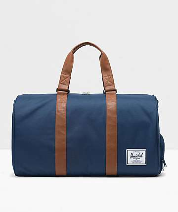 Herschel Supply Co. Novel Navy & Tan Duffle Bag