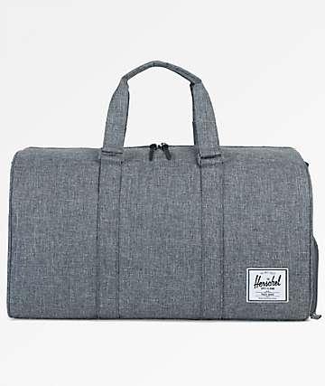 Herschel Supply Co. Novel Raven Crosshatch 42.5L Duffle Bag