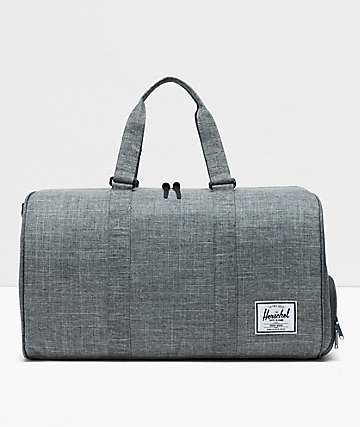 Herschel Supply Co. Novel Raven Crosshatch Duffle Bag