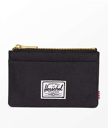 4b78baab8379 Herschel Supply Co. Oscar Black Zip Cardholder Wallet