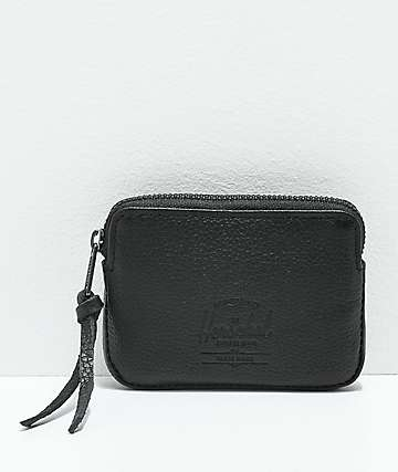 Herschel Supply Co. Oxford Black Pebble Leather Pouch Wallet