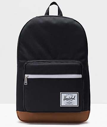 Herschel Supply Co. Pop Quiz Black & Saddle Backpack