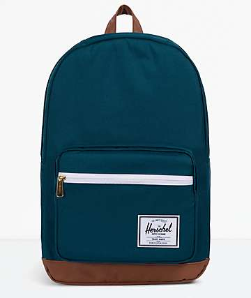 Herschel Supply Co. Pop Quiz Deep Teal & Tan Backpack