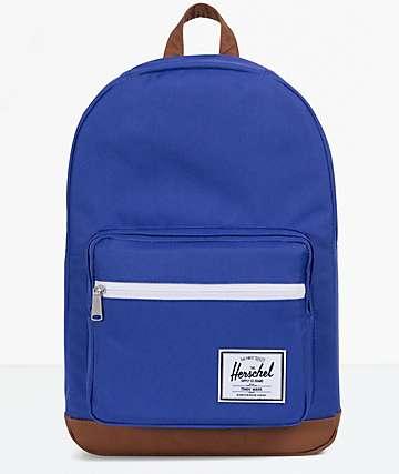 Herschel Supply Co. Pop Quiz Marine Blue & Tan Backpack