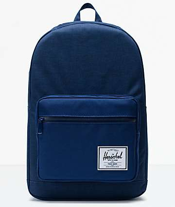 Herschel Supply Co. Pop Quiz Medieval Blue Crosshatch & Medieval Blue Backpack