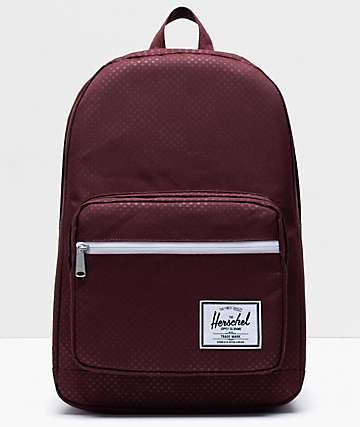 Herschel Supply Co. Pop Quiz Plum Dot Check Backpack