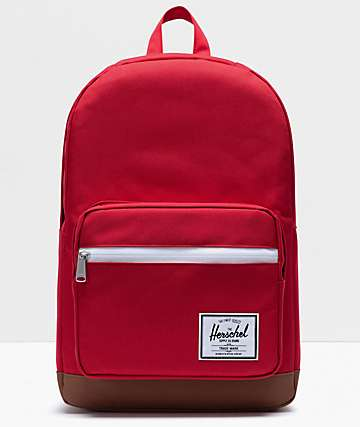 Herschel Supply Co. Pop Quiz Red & Saddle Brown Backpack