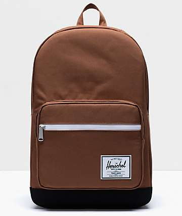 Herschel Supply Co. Pop Quiz Saddle Brown & Black Backpack