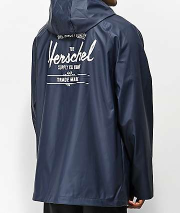 Herschel Supply Co. Rainwear chaqueta azul marino