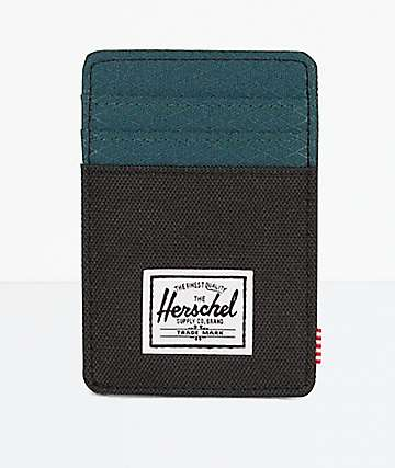 Herschel Supply Co. Raven Black & Deep Teal Cardholder Wallet