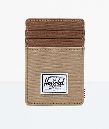 Herschel Supply Co. Raven Kelp & Saddle Brown Cardholder Wallet