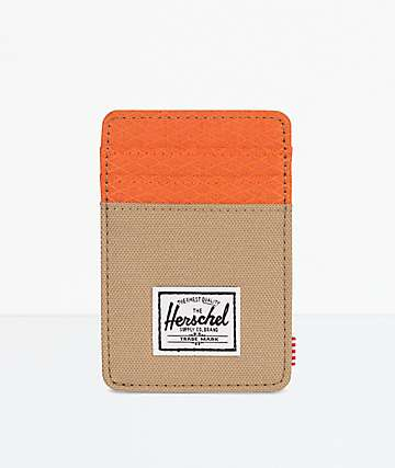 Herschel Supply Co. Raven Kelp & Vermillion Orange Cardholder Wallet