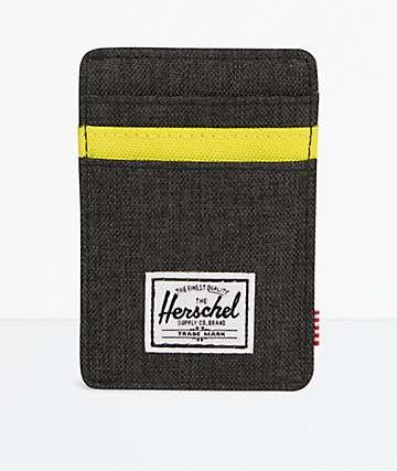 Herschel Supply Co. Raven cartera negra con pinza para billetes