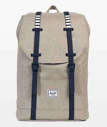 Herschel Supply Co. Retreat Mid Khaki Crosshatch 14L Backpack